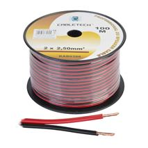 Kábel REPRO. 2x 2,5mm CU čier-červ(100m)