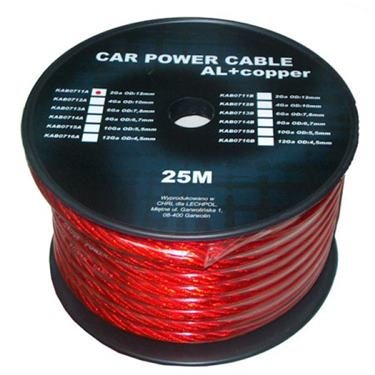 Kábel napájací auto 8mm  (25m)  CU+Al