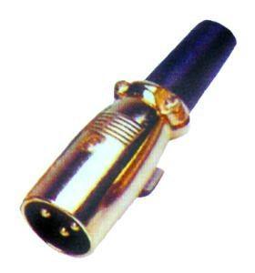 Konektor XLR (Canon) zástrč. pozlatený