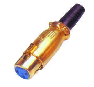 Konektor XLR (Canon) zásuv. pozlátený