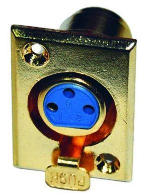 Konektor XLR (Canon) zásuv. pozl. panel