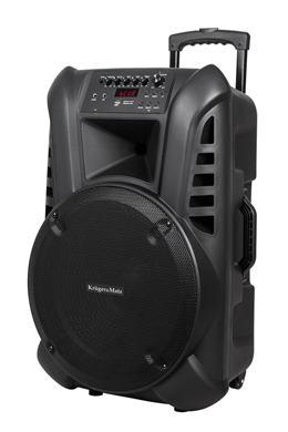 """Aktívny reprobox 15"""" 60W Kruger&Matz s 2 mikrofónmi"""
