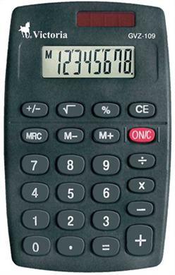 """Kalkulačka, vrecková, 8 miestny displej, VICTORIA \""""GVZ-109"""