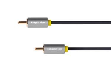 Kábel RCA 1x - RCA 1x, 1,8m Kruger&Matz Basic
