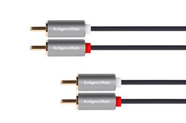 Kábel RCA 2x - RCA 2x, 1m Kruger&Matz Basic