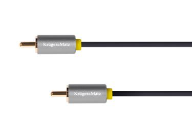 Kábel RCA 1x - RCA 1x, 0,5m Kruger&Matz Basic