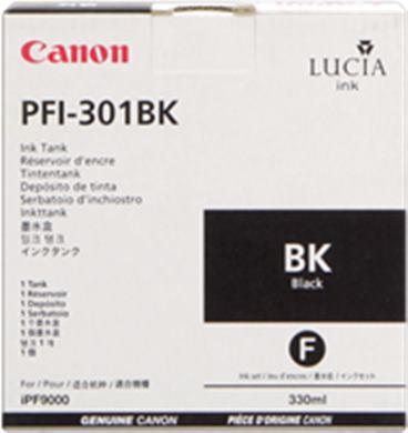 Cartridge Canon PFI-301BK, čierna (black), originál