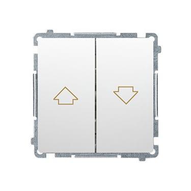 Tlačidlo jednoduché žalúziové Simon Basic modul biele